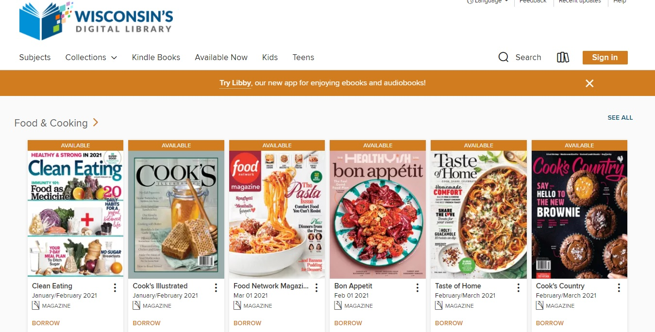 Wisconsin Digital Library E-Magazines