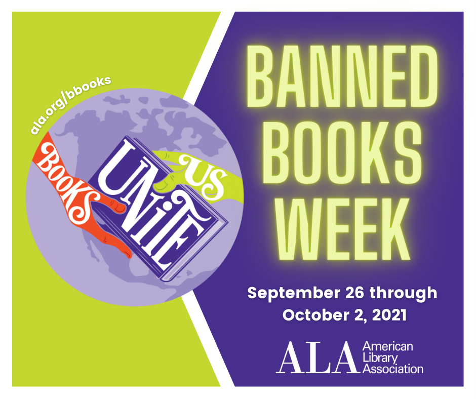 Banned books week. September 26-October 1
